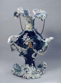 Weird Art, Pottery Art, Precious Metals, Decorative Bells, Art Nouveau, Tea Pots, Cool Art, Sculptures, Vintage