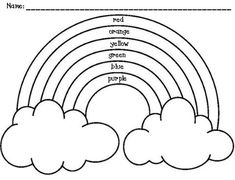 Inspiring ideas coloring pages of rainbows rainbow page printable picture and unicorns hearts is one of images from coloring pages of rainbows. Find more coloring pages of rainbows images like this one in this gallery Preschool Coloring Pages, Cute Coloring Pages, Preschool Worksheets, Coloring Sheets, Number Worksheets, Alphabet Worksheets, Colouring, Templates Printable Free, Free Printables