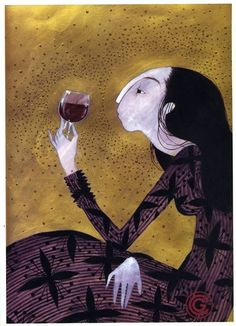 Wine Art by Charlotte Gastaut Illustrations, Illustration Art, Art Du Vin, Wine Tasting Near Me, Wine Images, Wine Poster, Cat Tattoo Designs, Wine Painting, Wine Photography