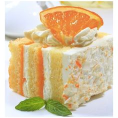 Creamsicle Cake Recipes, Dinner Ideas, Healthy Recipes Food Guide ❤ liked on Polyvore featuring food, backgrounds, cake, food & drinks and food and drink