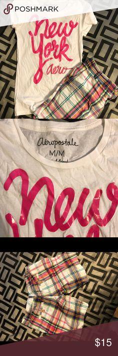 Aeropostale Short Set Worn once...cleaning out my closet! Bundle to save! Shirt size medium and shorts 7/8 juniors. Aeropostale Shorts