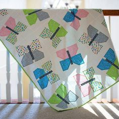 Create a sweet baby quilt inspired by Scandinavian traditions with this free quilt pattern. This Nordic Ribbons Baby Quilt Pattern embodies all things girly and puts a modern spin on basketweave quilt patterns. Baby Quilt Patterns, Modern Quilt Patterns, Fun Patterns, Block Patterns, Pattern Ideas, Quilting Patterns, Free Pattern, Scandinavian Quilts, Butterfly Quilt