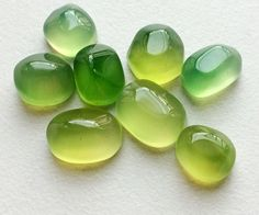 Lime Green Onyx Cabochons Shaded Green Onyx Plain by gemsforjewels