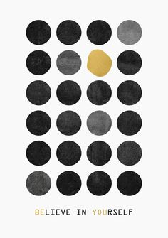 Poster | BE YOU / GOLD VERSION von Elisabeth Fredriksson | more posters at http://moreposter.de
