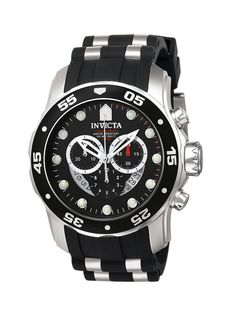 Invicta Watches - Unisex Scuba Black & Stainless Steel Watch