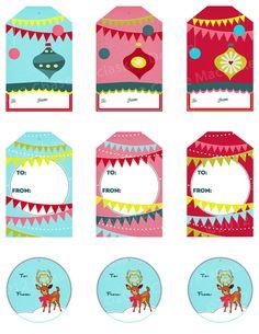PRINTABLE Christmas Gift Tags For Holiday Gift by HuesStudio, $3.00