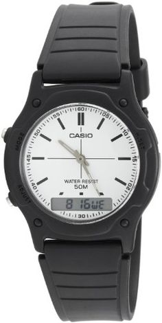 Casio Youth Combination Analog-Digital White Dial Men`s Watch - AW-49H-7EVUDF (AD139)