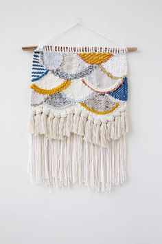 Colorful Scallops Wall Hanging Weave