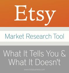 I was excited to learn recently that sellers can run a search on Etsy and choose what they're calling 'market research' results. This brings up a graph that tel | See more about tool and market.