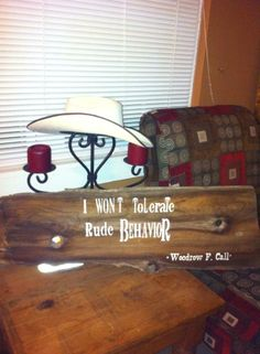 Lonesome dove sign!