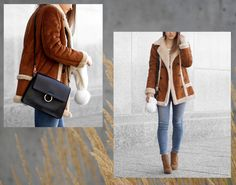 Shearling Coat & Blue Jeans