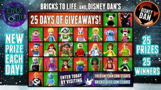Help me win one of 25 awesome prizes from Bricks To Life & Disney Dan's 25 Days Of Giveaways!
