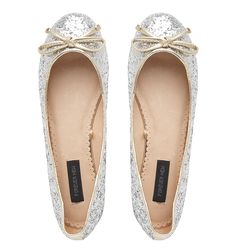 silver flats.. more comfy than heels for sure