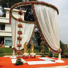 Gorgeous Wedding Mandap Designs To Inspire You! – The Urban Guide Wedding Backdrop Design, Desi Wedding Decor, Wedding Hall Decorations, Marriage Decoration, Wedding Mandap, Backdrop Decorations, Wedding Receptions, Wedding Dresses, Wedding Bride