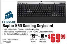 raptor k50 keyboard
