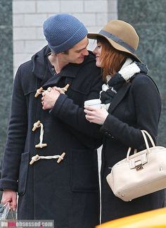 Andrew Garfield and Emma Stone. I seriously love these two. They're precious.