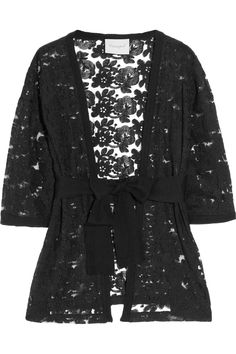 Belted Lace and Cashmere Cardigan by Crumpet (I have something in similar I could belt)