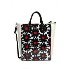 Καθημερινή τσάντα άσπρη-μαύρη