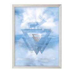 Obraz Moose 30x40cm ice blue&silver 30x40cm    #obraz#trojuholniky#abstraktny#obyvacka#kuchyna#jedalen#detskeizba Moose, Ice, Tote Bag, Silver, Bags, Handbags, Mousse, Totes, Ice Cream