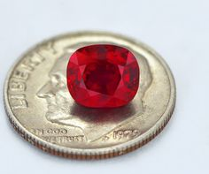 """2 carat, near flawless, unheated, """"pigeon blood"""" AGL certified, top gem ruby.#ruby red"""