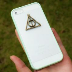 Harry Potter iPhone 5 Case - Deathly Hallows Charm iPhone 4 / 4S Case - Harry Potter Galaxy S2 ,S3 ,S4 Case on Etsy, $12.99