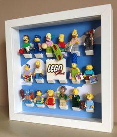 Stunning Lego Simpsons Series 16 Minifig Figure Display Case Frame Custom Title: