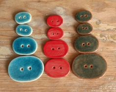 Ceramic Buttons by Earth Wool and Fire.