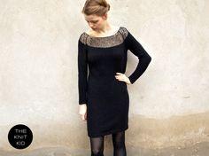 knitted dress bulky mohair merino silk black the knit kid. $451.83, via Etsy.