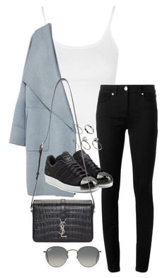 """""""Unbenannt #1467"""" by tyra482 ❤ liked on Polyvore featuring Topshop, Versace, Zara, adidas Originals, Yves Saint Laurent, ASOS and Ray-Ban"""