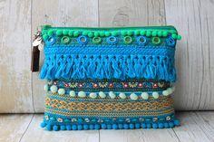 RENIQLO // Handmade Clutch Bag from Vintage textiles Handmade Handbags & Accessories - http://amzn.to/2iLR27v