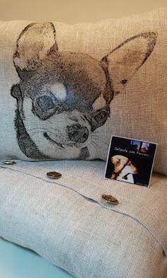 Soñando con Perros: COJINES DE LINO PARA NEUS Y SUS PELUDOS SIESTA Y GOKU...