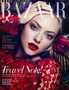 Amanda Seyfried in #dolcegabbana on the cover of Harpers Bazaar Korea, July 2013