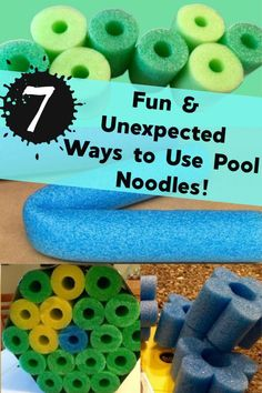 Reuse, repurpose and upcycle those pool noodles in fun and practical ways! Get creative for garden decor, kids toys and organization ideas! Upcycled Crafts, Repurposed, Handmade Home Decor, Diy Home Decor, Pool Noodle Crafts, Pool Noodles, Fun Noodles, Diy Kids Furniture, Weekend Projects