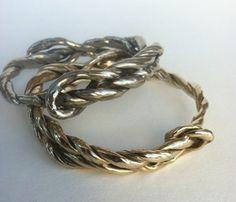 Woven ropes of brass in bangle bracelet......