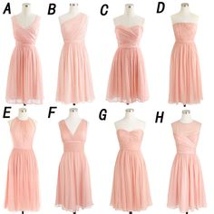 The short bridesmaid dress is fully lined, 4 bones in the bodice, chest pad in the bust, lace up back or zipper back are all available, total 126 colors are available. This dress could be custom made, there are no extra cost to do custom size and color. Description of short bridesmaid dress ...