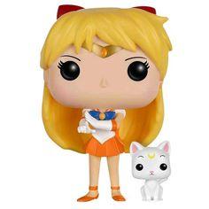 Sailor Moon - Sailor Venus with Artemis Vinyl Figure 94  - Sammelfigur - Höhe ca. 10 cm - Vinylfigur Nr .94  Komm und schnapp sie dir alle! Die Funko-Pop! Sammelfiguren rocken ordentlich. Egal, ob auf dem Schreibtisch, im Auto, auf dem Regal oder auch auf dem Klo: Mit den Funko-Pop! Figuren begleiten dich deine Lieblingshelden überall hin - perfekt für deine Sammlung. Du bist Fan der Sailor Kriegerinnen. Dann hol dir diese coole Sammelfigur von Sailor Venus. Deine ca. 10 cm hohe Sailor…