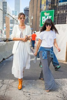 The Denim Trends That Ruled the Streets of NYFW