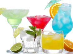 Cocktails with fruits Stock Image Medical Illustration, Cocktails, Drinks, Beverages, Hurricane Glass, Royalty Free Photos, Martini, Clip Art, Fruit