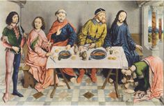 Albert Bouts Fußwaschung, Tisch, Böcke