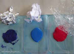 Learn with Play @ home: Paper vs Foil vs Cellophane. The Great Paint Off!