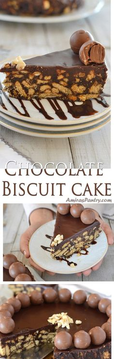 No bake chocolate cake is a biscuit cake recipe, incredibly delicious and so easy to make! This is how to make a simple cake without oven in under 20 minutes of active time. #nobake #easychocolatecake #mothersdaycake #easydessert | amiraspantry.com