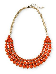 Pim + Larkin Three Row Beaded Statement Necklace   Piperlime  A splash of color is always a good idea.