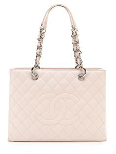 b423a2b14d0 Baby Pink Quilted Caviar Leather Grand Shopper Tote (GST) Bag by Chanel  Chanel Outfit