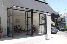 steel doors by Award, Sidney Australia Glass House, Glass Door, Glass Art, Aluminium French Doors, Aluminium Windows, Steel Doors And Windows, Building Front, Ceramic Door Knobs, Glass Extension