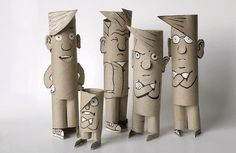 Bastelideen kinder Toliet Papier Menschen Hydropnics Q&A: The Basics Of Hydroponics * What is hydrop Toilet Paper Roll Art, Rolled Paper Art, Toilet Paper Roll Crafts, Diy With Kids, Art For Kids, Crafts For Kids, Cardboard Sculpture, Cardboard Crafts, Cardboard Playhouse