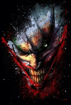 Why so serious? The one and only Joker Gothams most disturbed villain