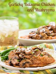 Garlicky Balsamic Chicken and Mushrooms has the most incredible sauce. The chicken is so tender after simmering in it and with the mushrooms.