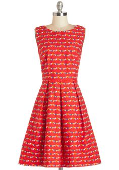 Chalk of the Town Dress in Flags | Mod Retro Vintage Dresses | ModCloth.com