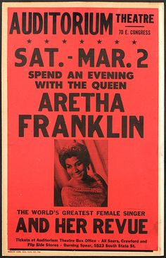 Aretha Franklin — Early Concert Poster