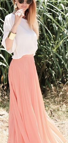 cuffs and maxi chiffon skirt